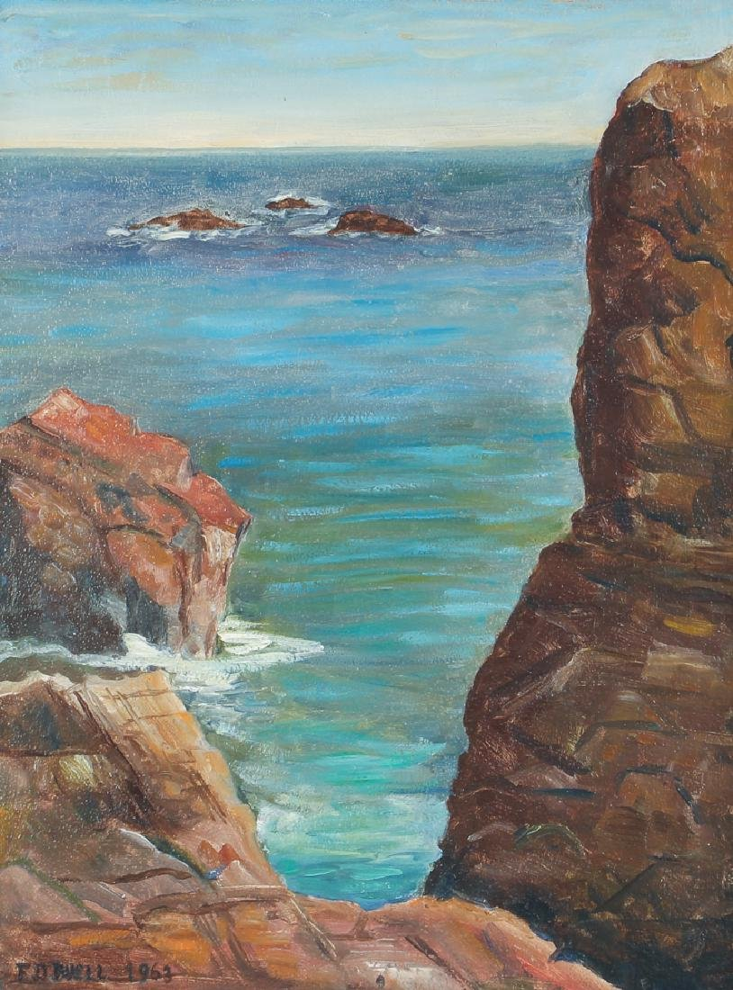 F. D. Buell Painting Springhead Chasm Ogunquit Maine