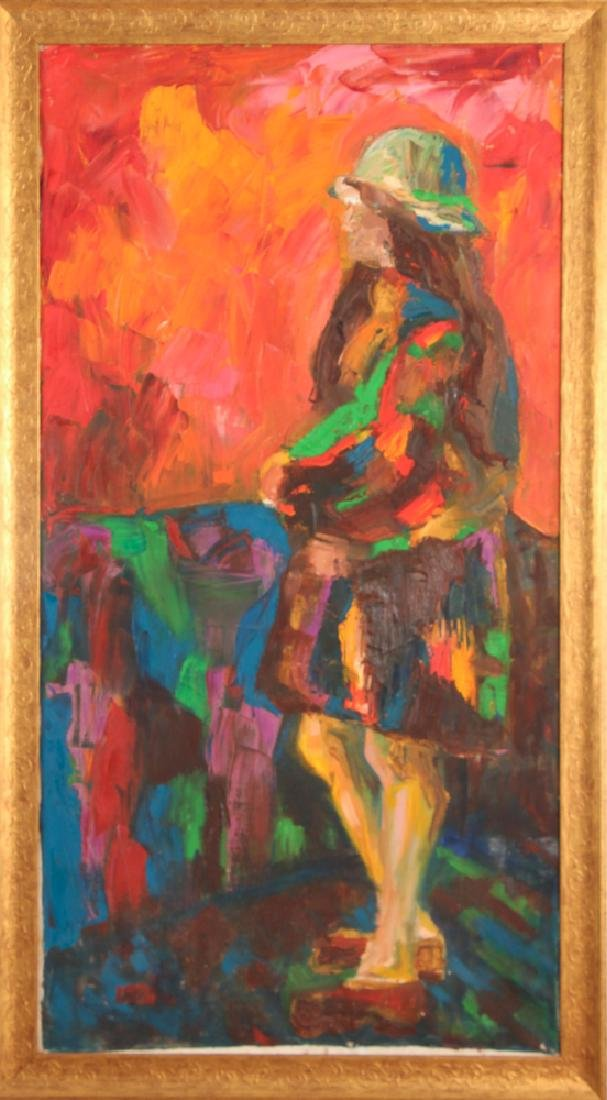 Irwin Touster Impressionist painting of Standing Girl - 2