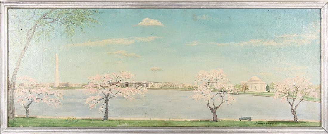 Washington D.C. Landscape Painting by John C. Close - 2
