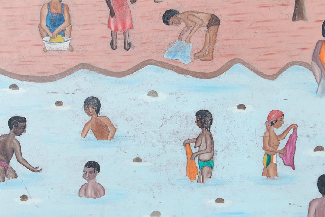 Sully Obin Untitled Haitian Bathing Scene - 4