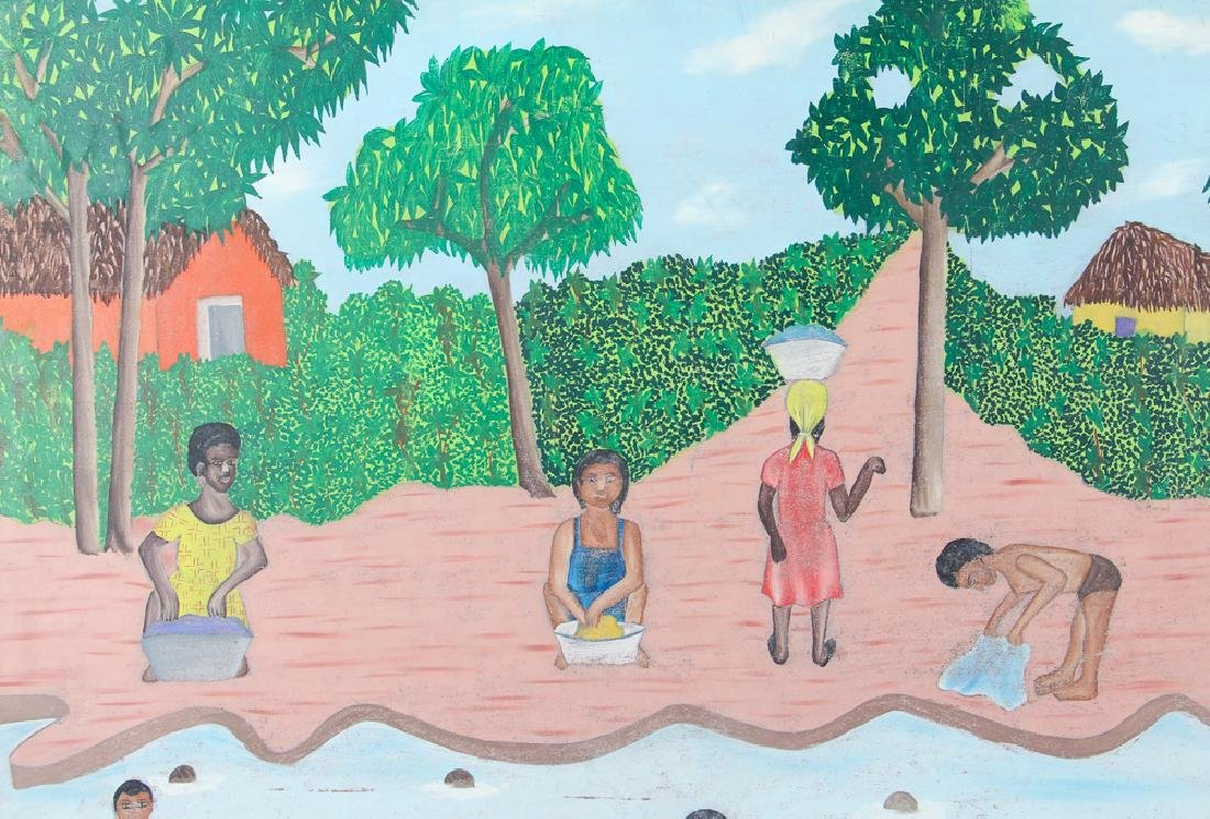 Sully Obin Untitled Haitian Bathing Scene - 5