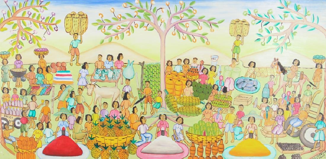 Alexandre Gregoire Untitled Haitian Market Scene