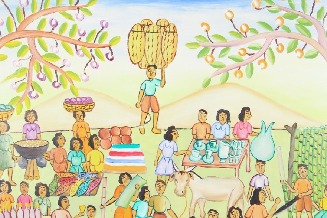 Alexandre Gregoire Untitled Haitian Market Scene - 4
