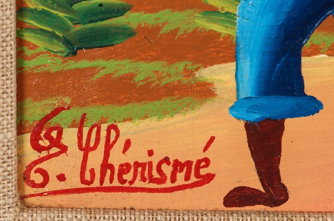 G. Chemisme Haitian Village Painting on Board - 3