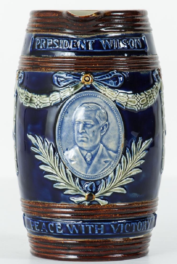 Doulton Lambeth Jug President Woodrow Wilson Peace with - 2