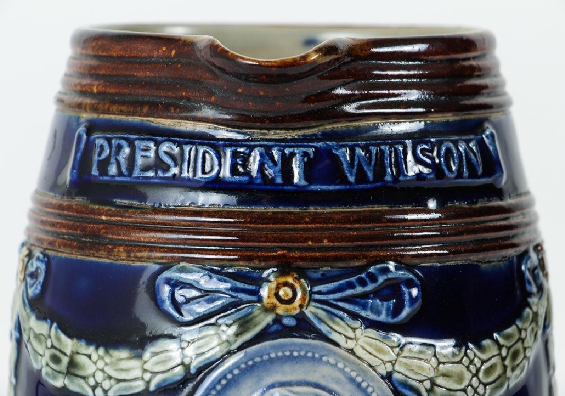 Doulton Lambeth Jug President Woodrow Wilson Peace with - 8