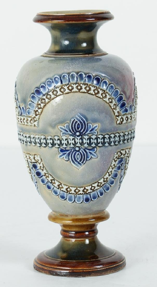 2 Doulton Lambeth Vases, Queen Victoria Bud Vase and - 2
