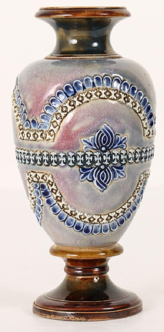 2 Doulton Lambeth Vases, Queen Victoria Bud Vase and - 3