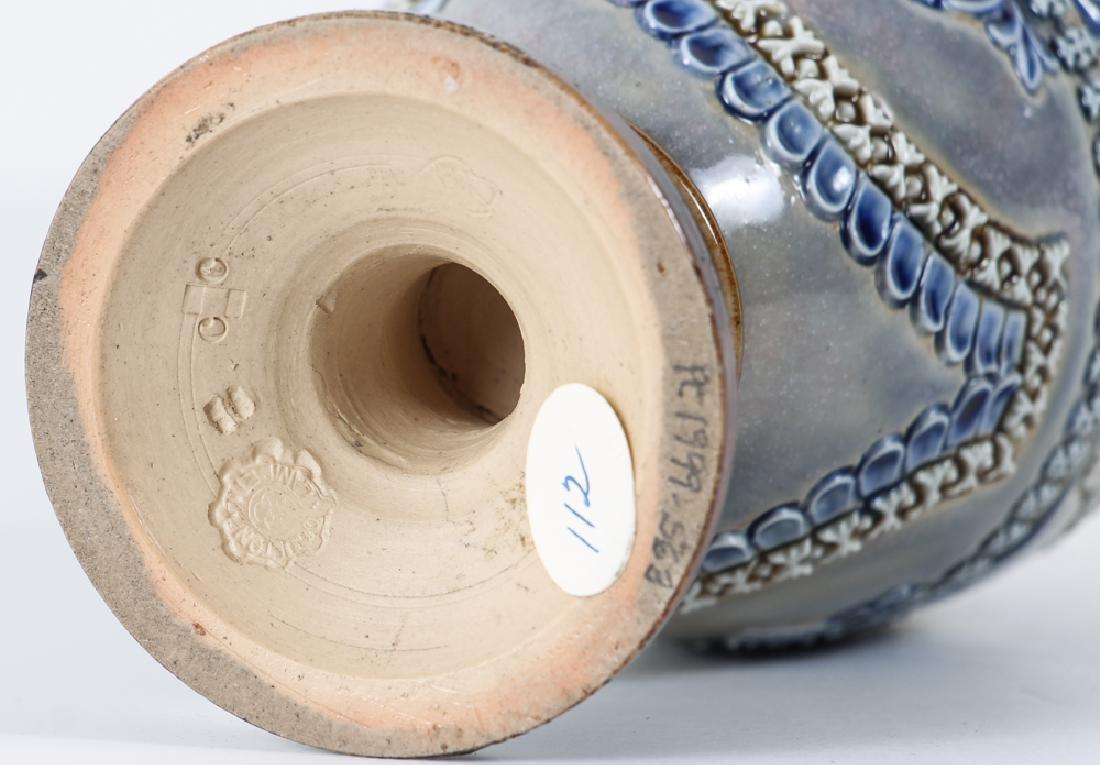 2 Doulton Lambeth Vases, Queen Victoria Bud Vase and - 4