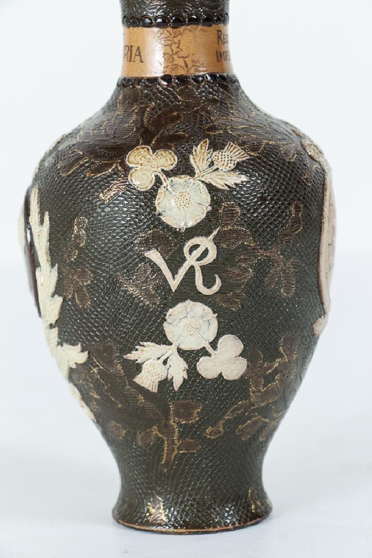 2 Doulton Lambeth Vases, Queen Victoria Bud Vase and - 7
