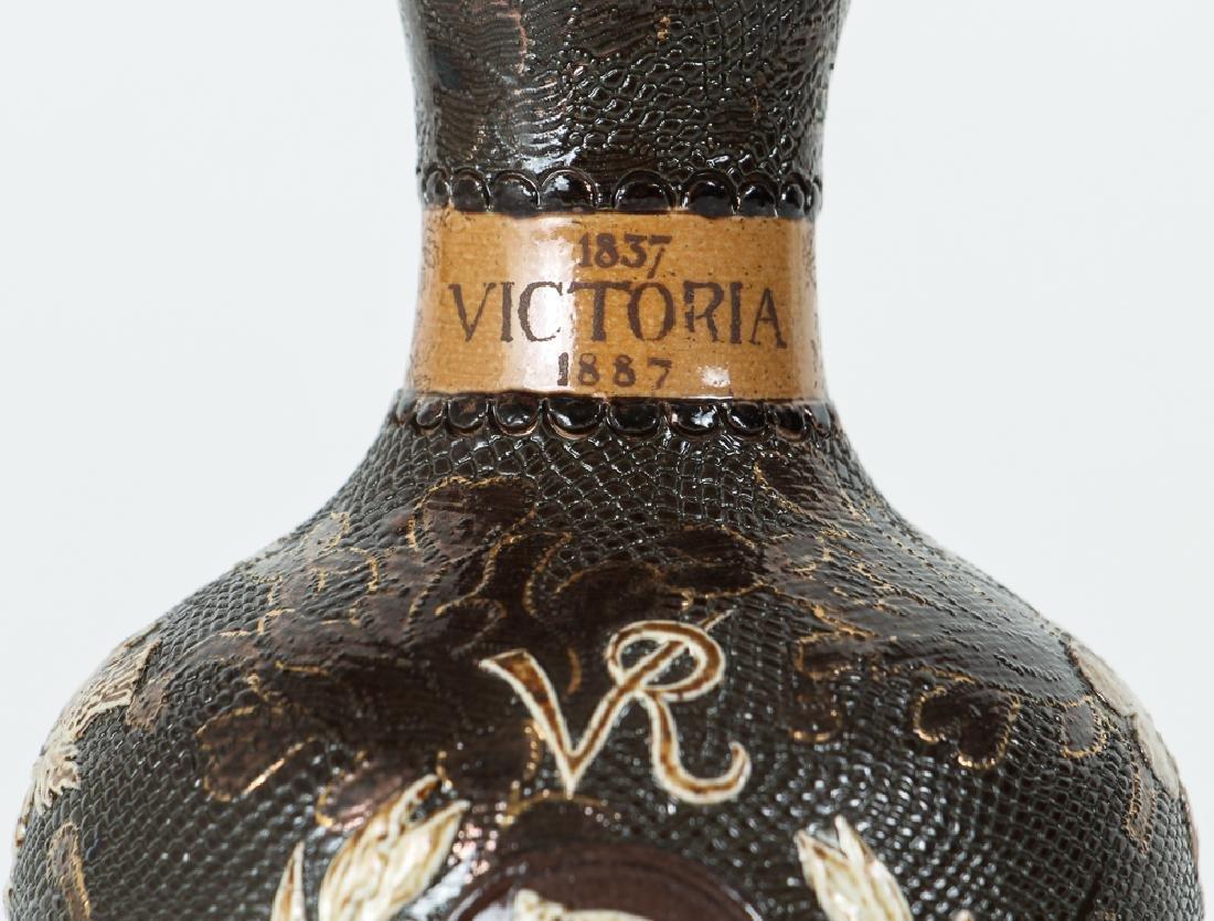 2 Doulton Lambeth Vases, Queen Victoria Bud Vase and - 8