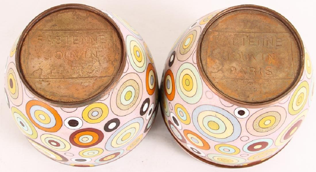 Pair Fabienne Jouvin Rondo Cloisonne Jars - 6