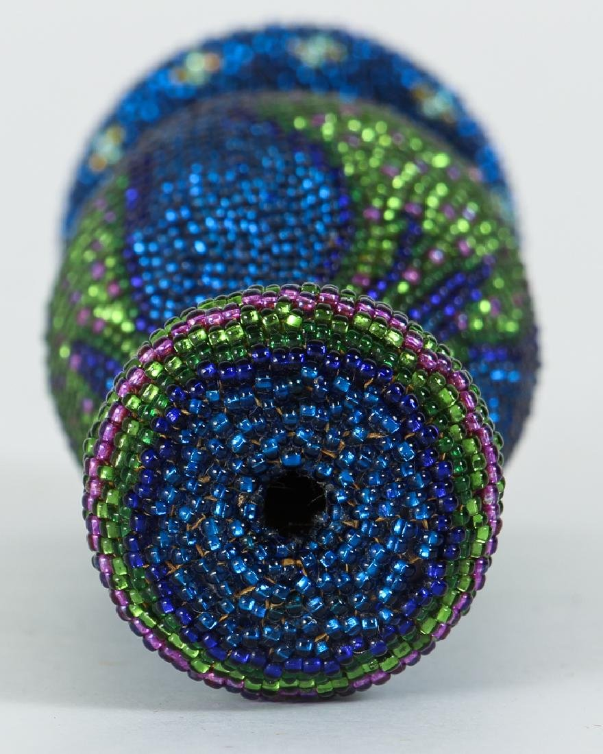 Contemporary Iridescent Beaded Weed Vase - 3