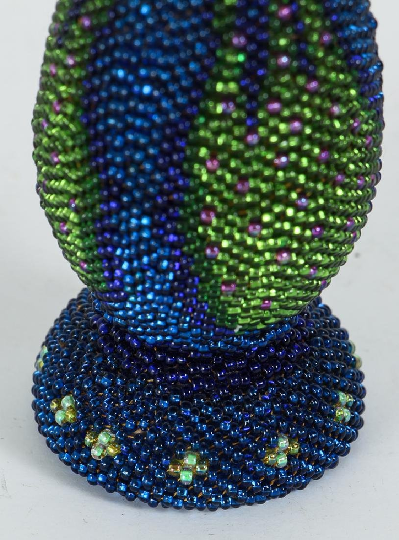 Contemporary Iridescent Beaded Weed Vase - 5