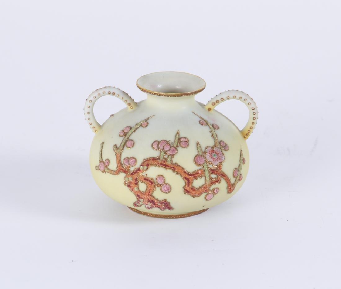 Nippon Pottery Coralene Decorated Vase