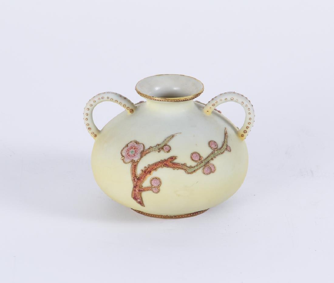 Nippon Pottery Coralene Decorated Vase - 2