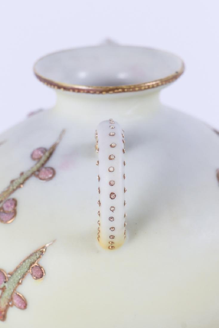 Nippon Pottery Coralene Decorated Vase - 5
