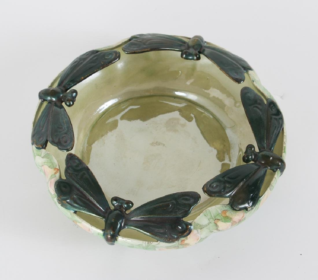 German Art Nouveau Dragonfly Themed Bowl - 2
