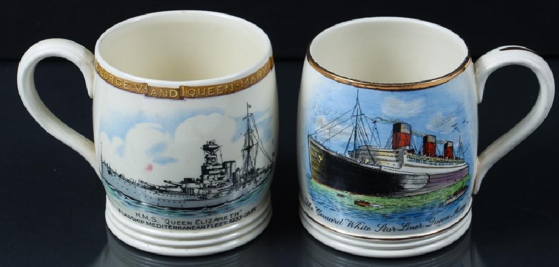 Queen Mary and Queen Elizabeth Ocean Liner Mugs