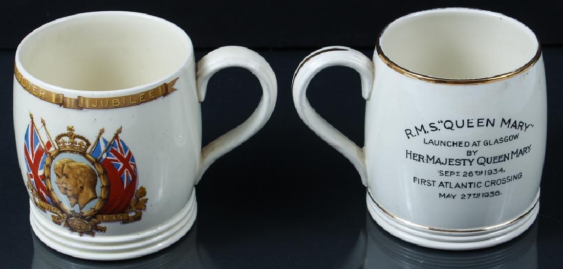 Queen Mary and Queen Elizabeth Ocean Liner Mugs - 2