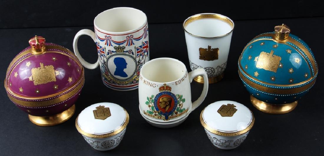 Seven Coronation Souvenirs Victoria and Elizabeth II