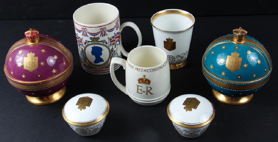 Seven Coronation Souvenirs Victoria and Elizabeth II - 2