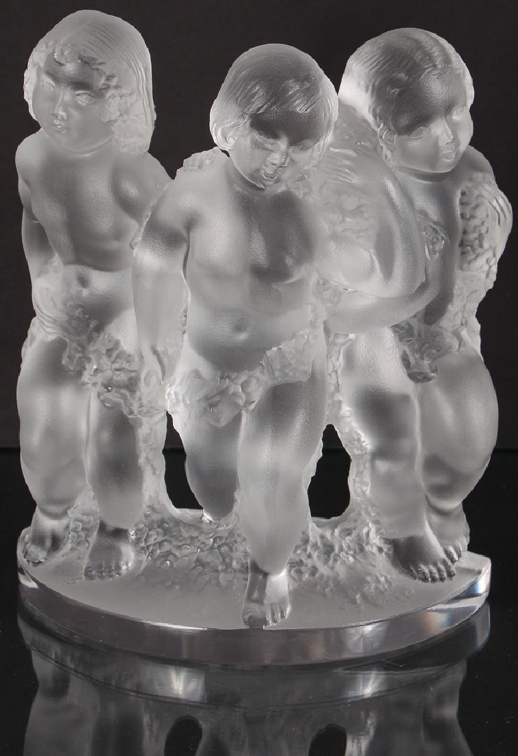 Crystal Lalique Luxembourg Three Figures
