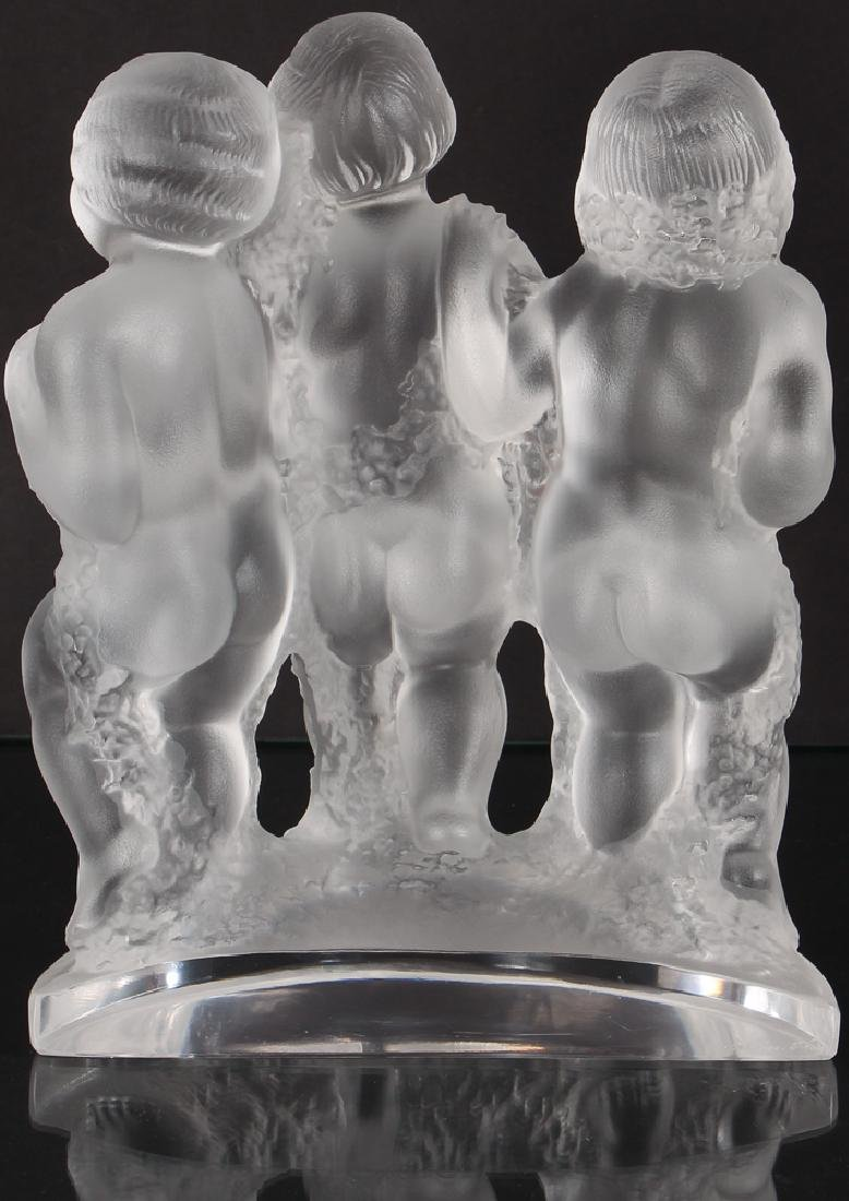 Crystal Lalique Luxembourg Three Figures - 2