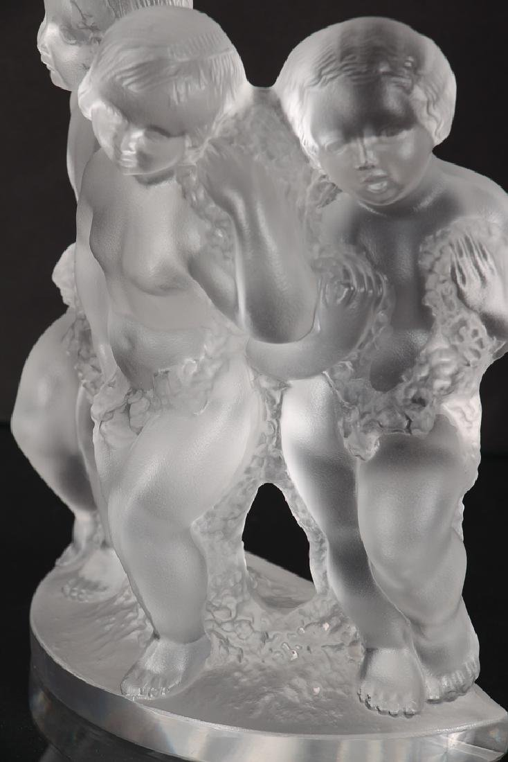Crystal Lalique Luxembourg Three Figures - 3