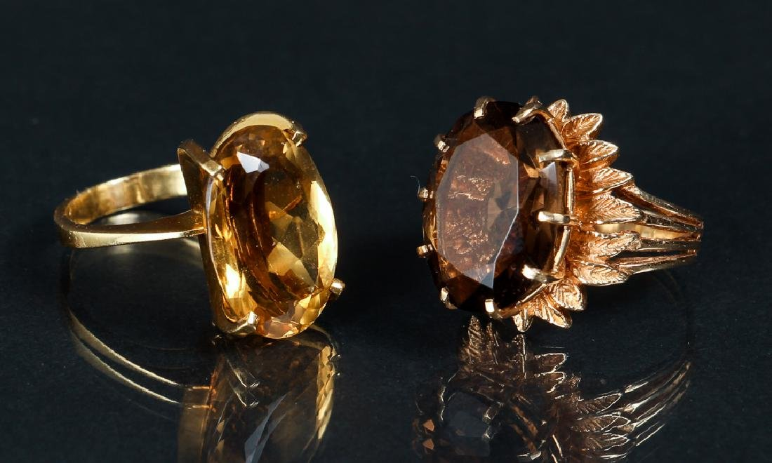 Two 14K Yellow Gold Rings