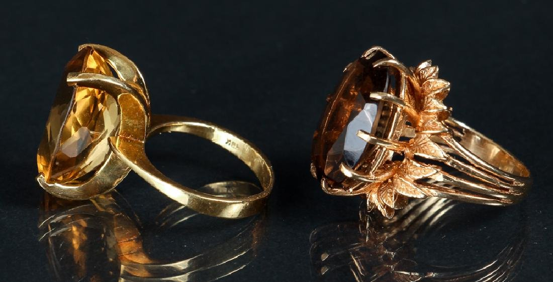 Two 14K Yellow Gold Rings - 3