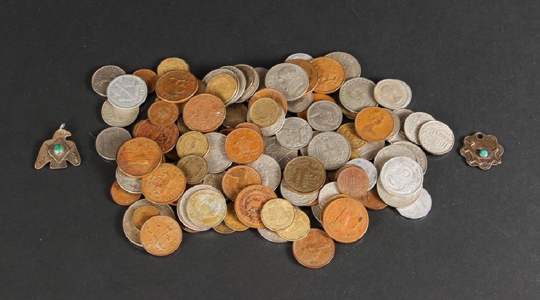 Large Group of Miscellaneous Foreign Coins