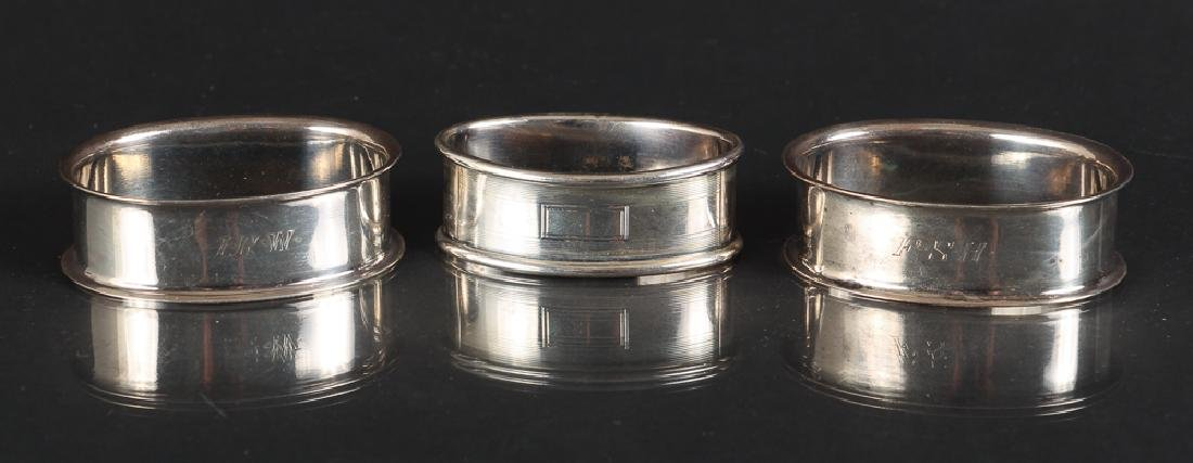 Six Sterling Silver Napkin Rings - 2