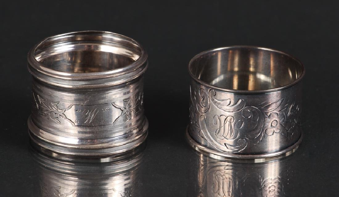 Six Sterling Silver Napkin Rings - 4