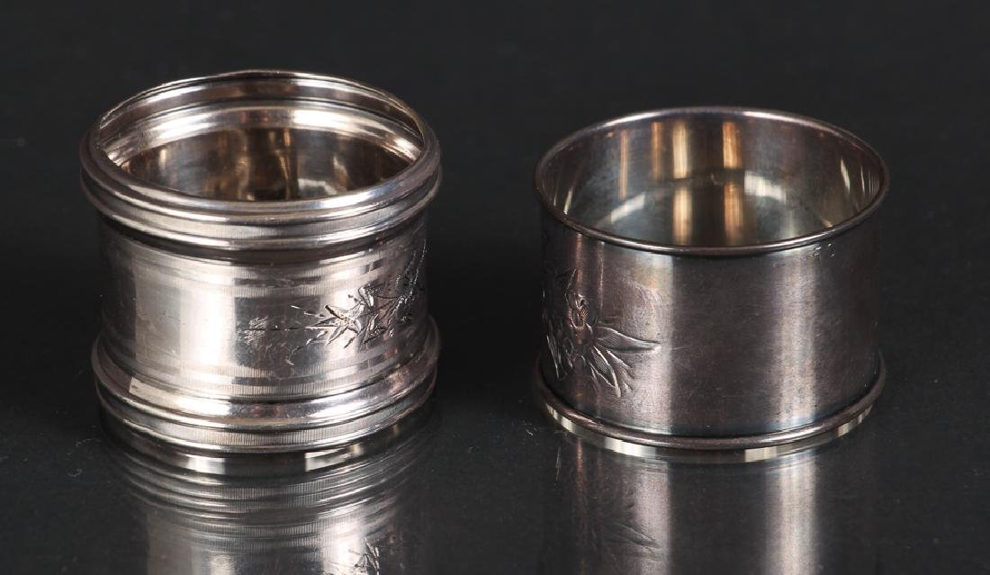 Six Sterling Silver Napkin Rings - 5