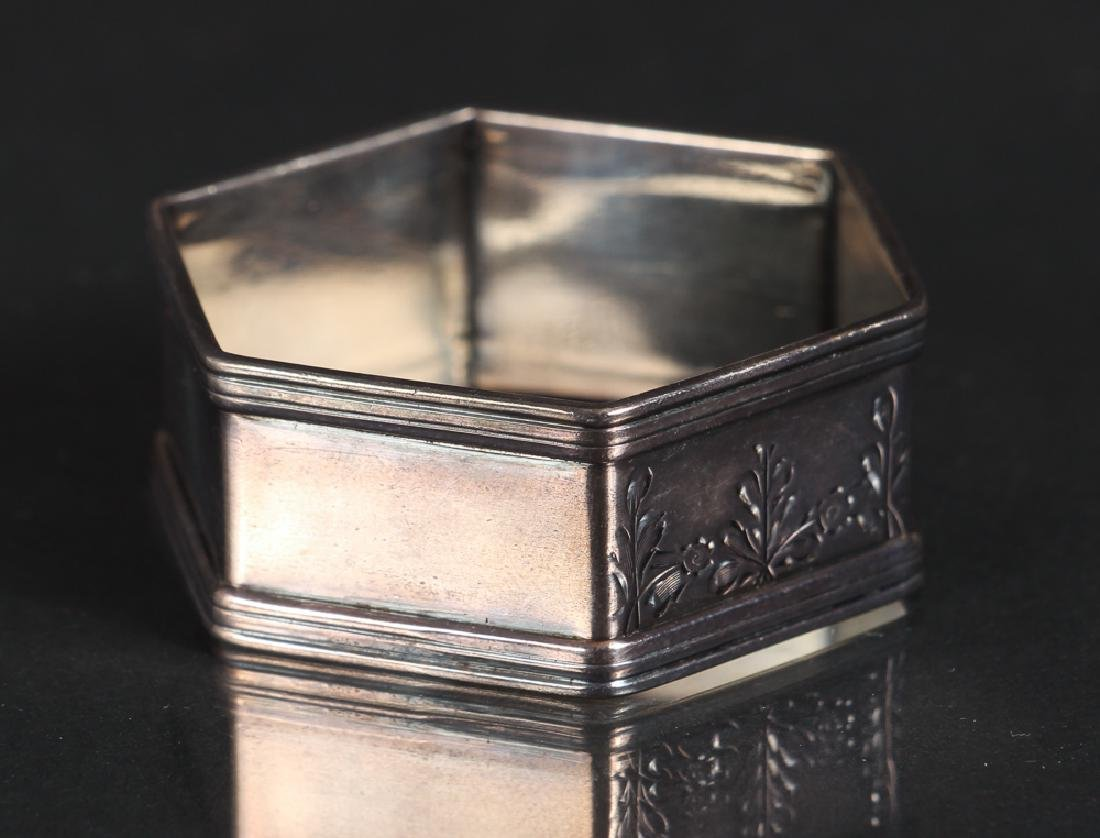 Six Sterling Silver Napkin Rings - 8