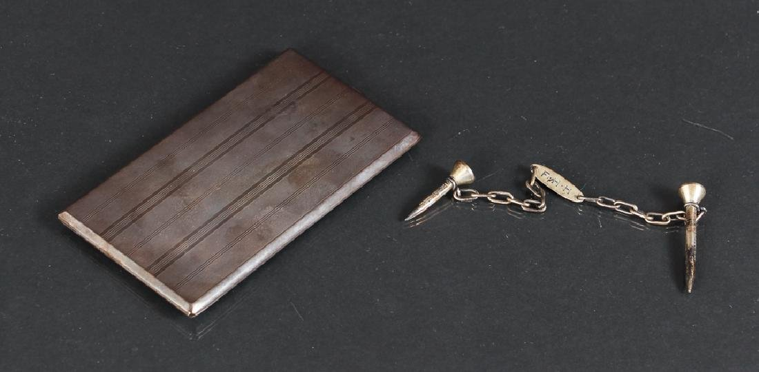 Two Sterling Silver Accessory Items inc Golf Tees