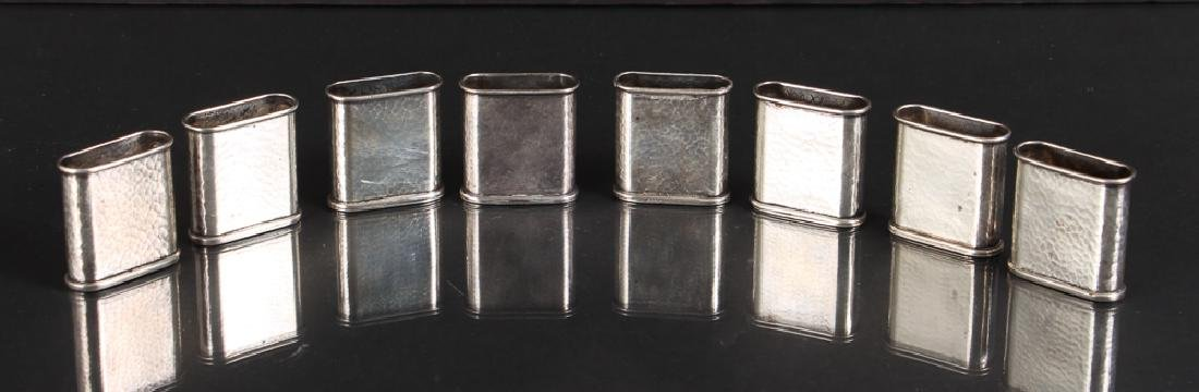 Eight Sterling Silver Placecard Holders