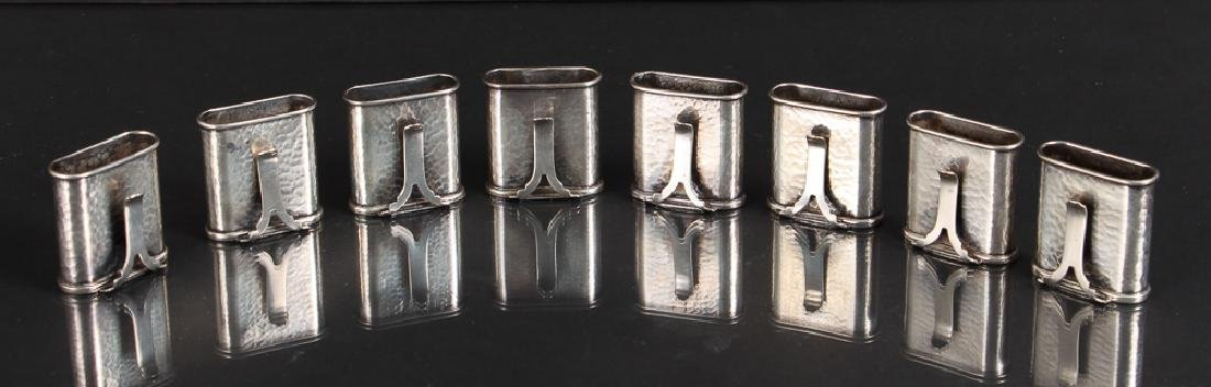 Eight Sterling Silver Placecard Holders - 2