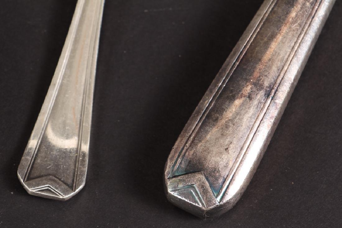 Large Christofle Silver Plated Flatware Set - 10