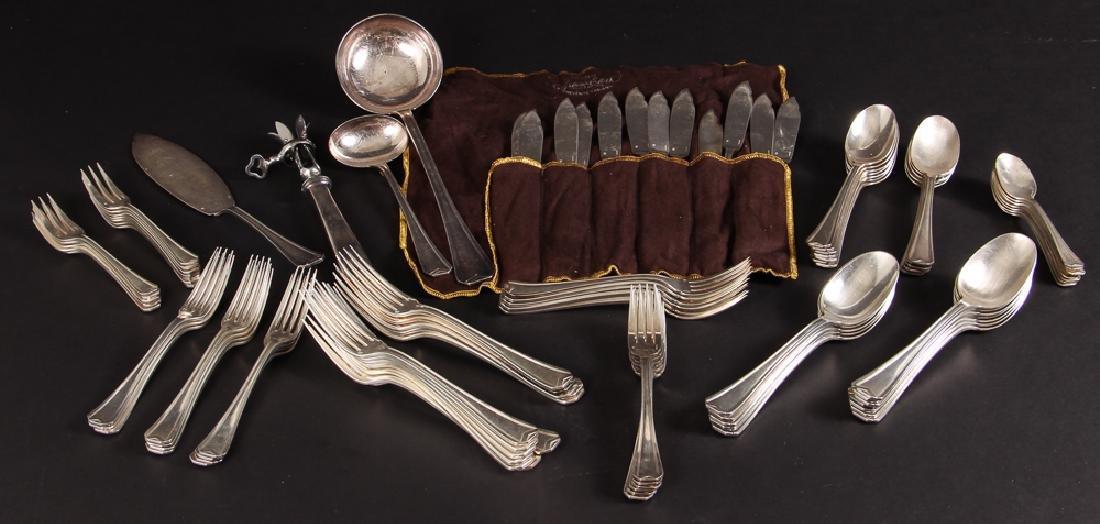 Large Christofle Silver Plated Flatware Set