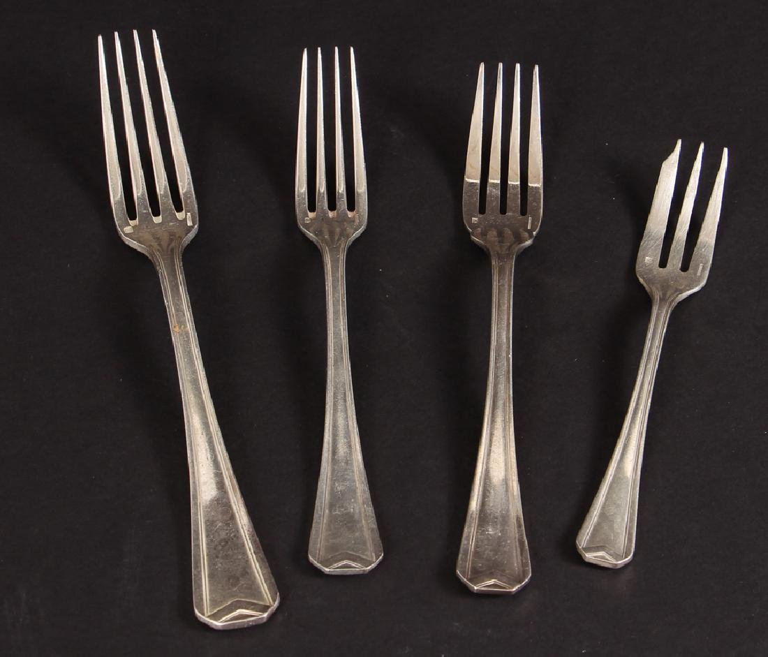 Large Christofle Silver Plated Flatware Set - 7