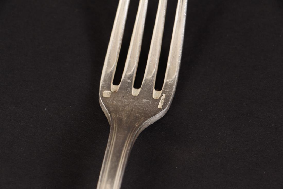 Large Christofle Silver Plated Flatware Set - 8