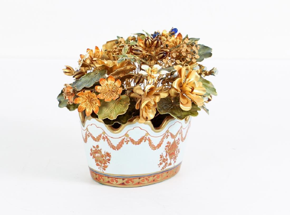 Jane Hutchinson for Gorham Metal Flower Arrangement