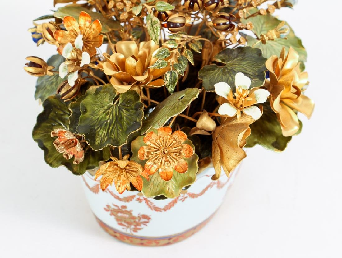 Jane Hutchinson for Gorham Metal Flower Arrangement - 2