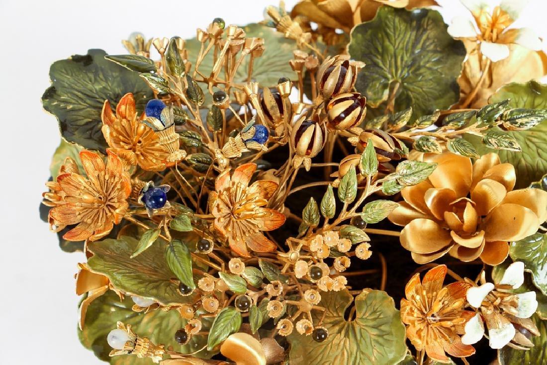 Jane Hutchinson for Gorham Metal Flower Arrangement - 3