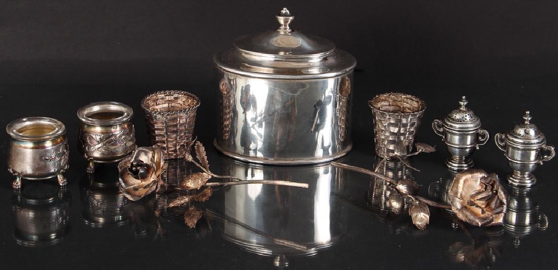 Seven Pieces Miscellaneous Silver