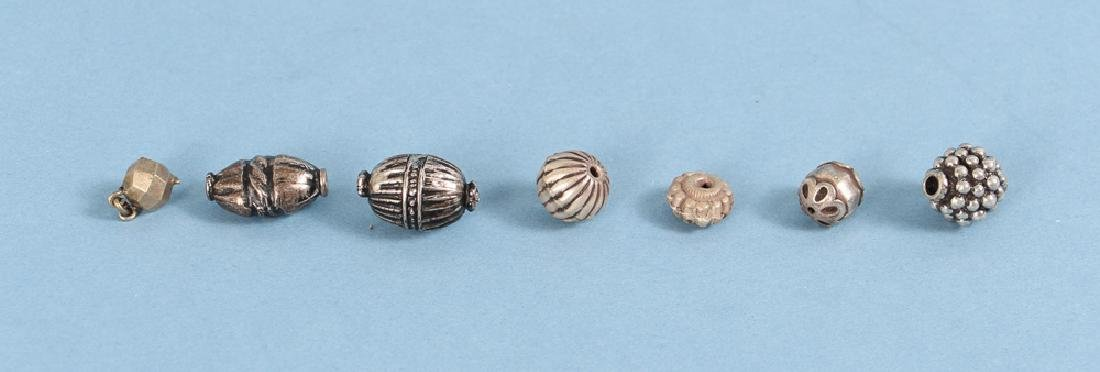 Large Group Silverplated Brass Indian Beads - 5