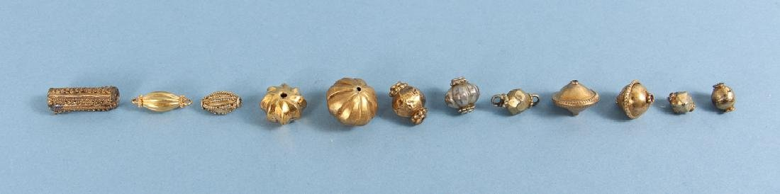 Large Group Goldplated Brass Indian Beads - 5