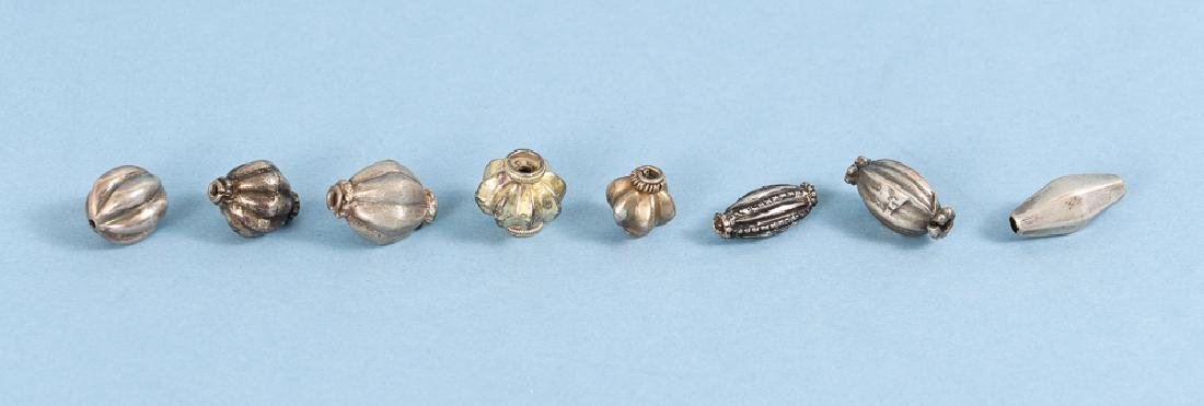 Large Group Silverplated Brass Indian Beads - 9